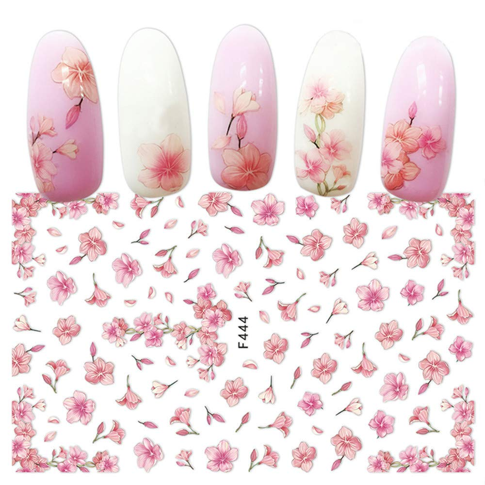 1pcs DIY Nail Decal Sticker Nail Back Glue Sticker Nail Art Role Ofing is Tasted 3D Nail Applique Patterned (A)