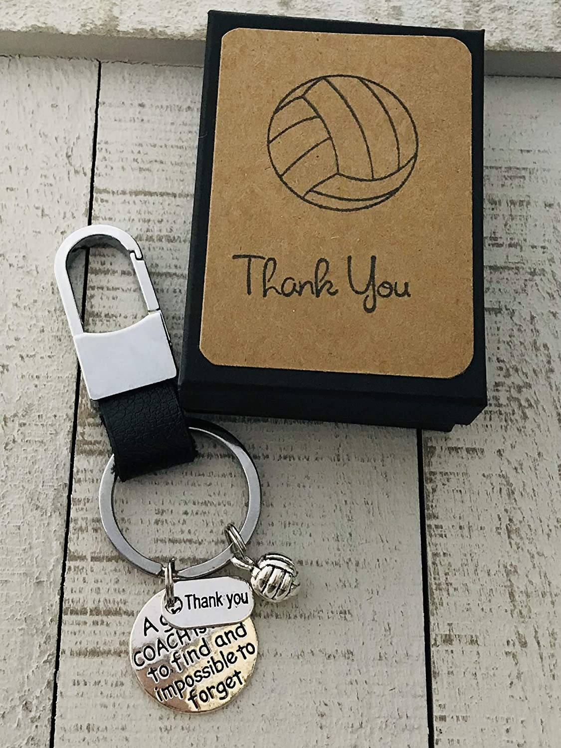 Volleyball Coach Appreciation Gift Keepsake Key Chain with Gift Packaging for Your Coach