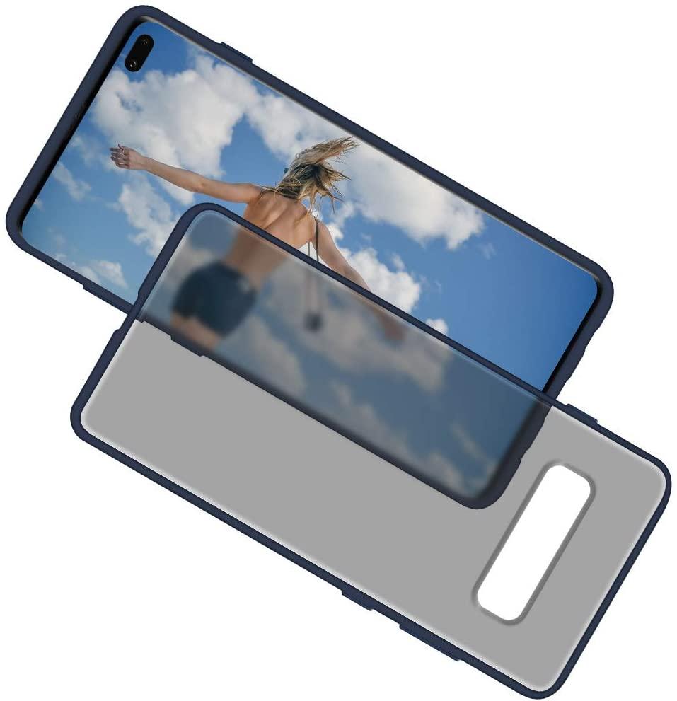 GOOSPERY Peach Garden for Samsung Galaxy S10 Plus Case (2019) Protective Slim Bumper Case (Navy Blue) S10P-PEA-NVY