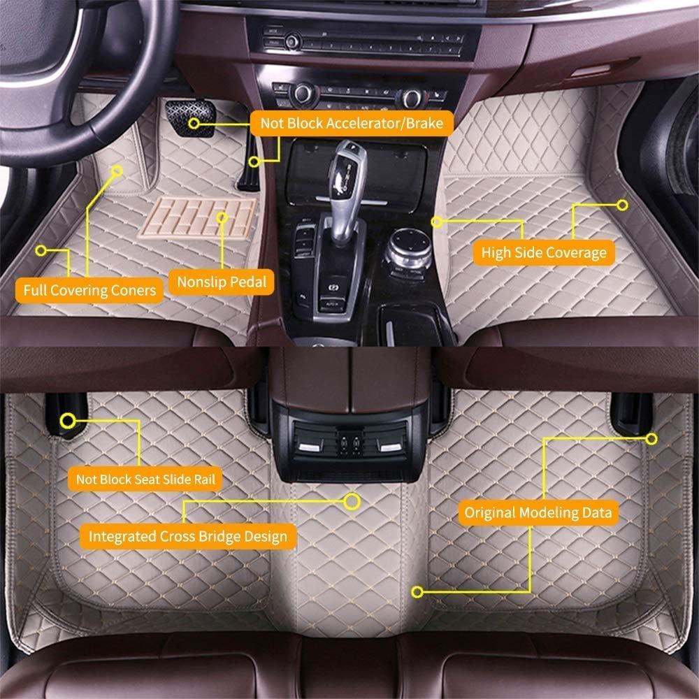 SureKit Custom Car Floor Mats for Mazda MX-5 Miata 1995-2004 Waterproof Anti-Skid Luxury Leather Full Coverage Liner Front & Rear Mat/Set (Gray)