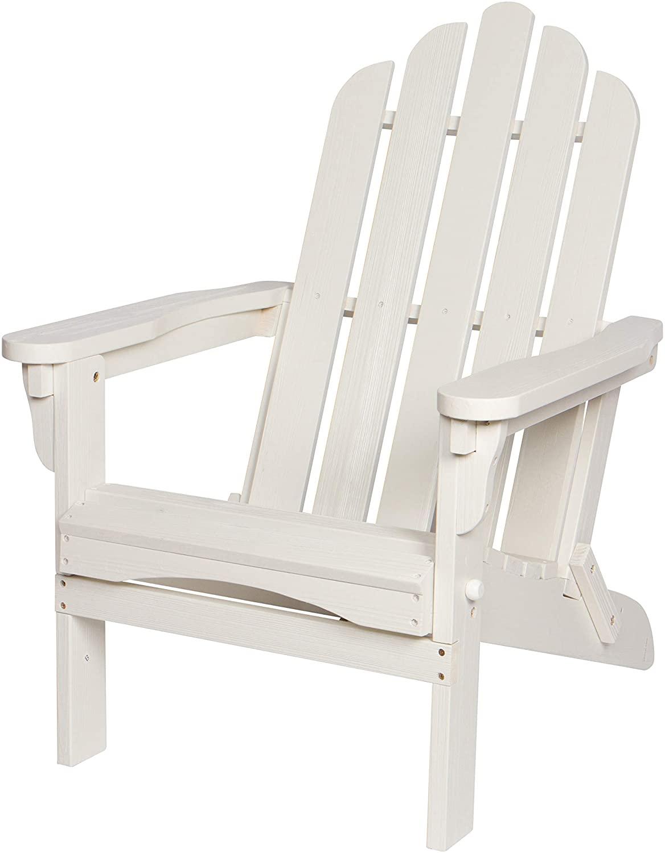 Shine Company 4659EW Marina II Hydro-TEX Finish, Eggshell White Folding Adirondack Chair