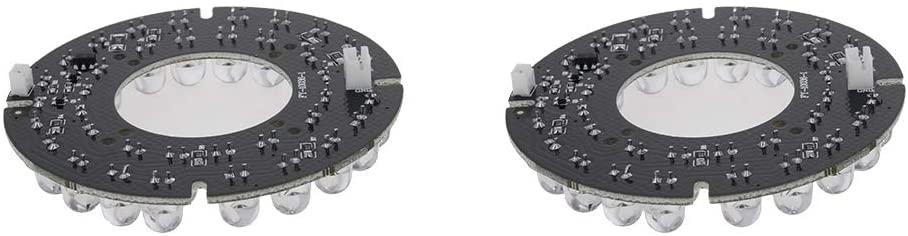 Othmro IR Infrared Illuminator Board 2PCS 60° Round Plate IR Illuminator Board Bulb for CCTV Security Camera 36LEDs