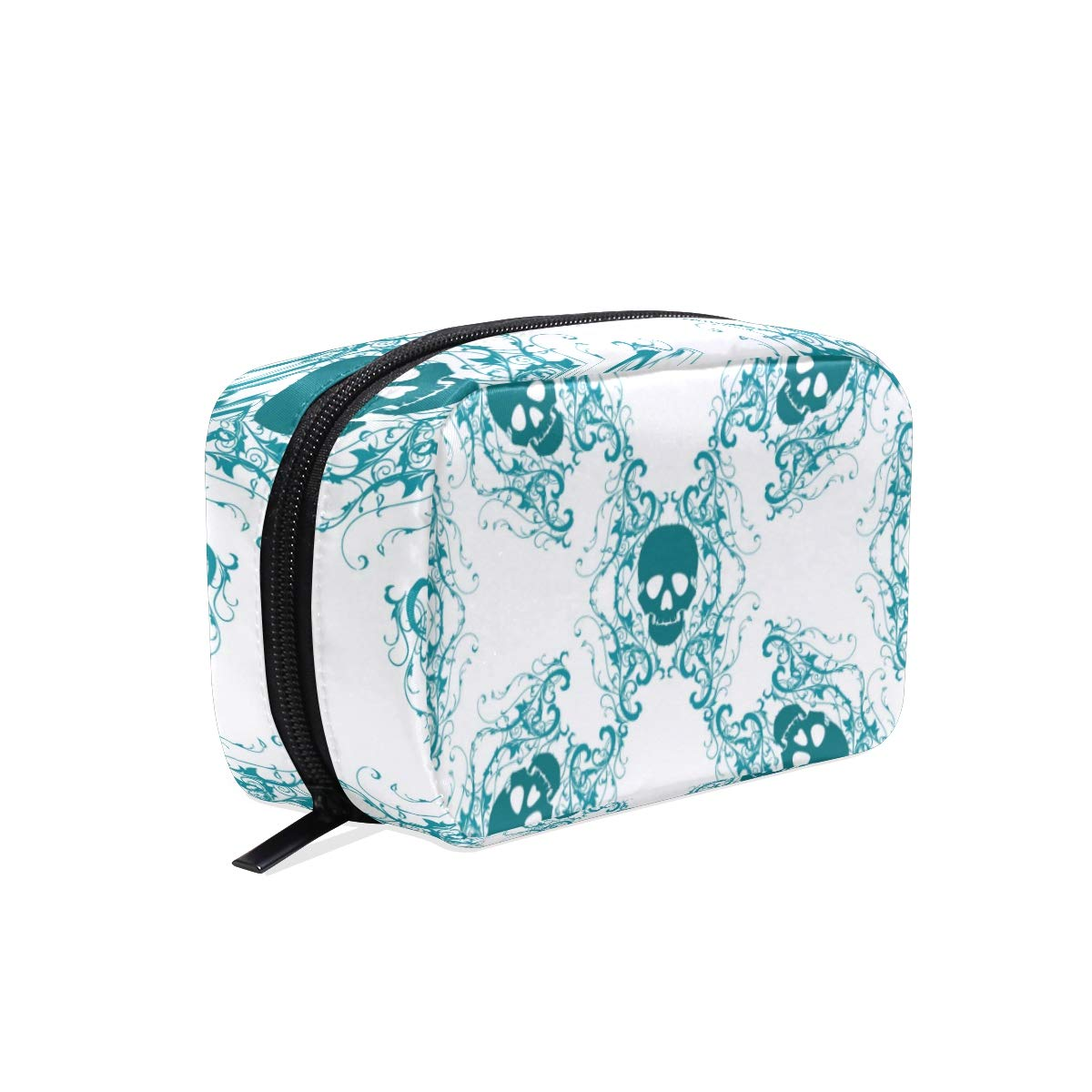 Womens Makeup Cosmetic Bag Sugar Skull Makeup Pouch for Travel Cosmetic Pouch Purse(904d32)