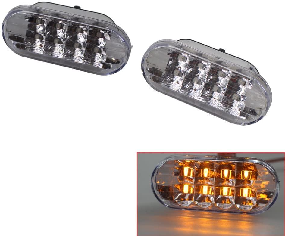 Side Marker Turn Light 8 LED for VW Volkswagen Golf Jetta Bora MK4 Passat B5 B5.5 GTI R32 New Beetle
