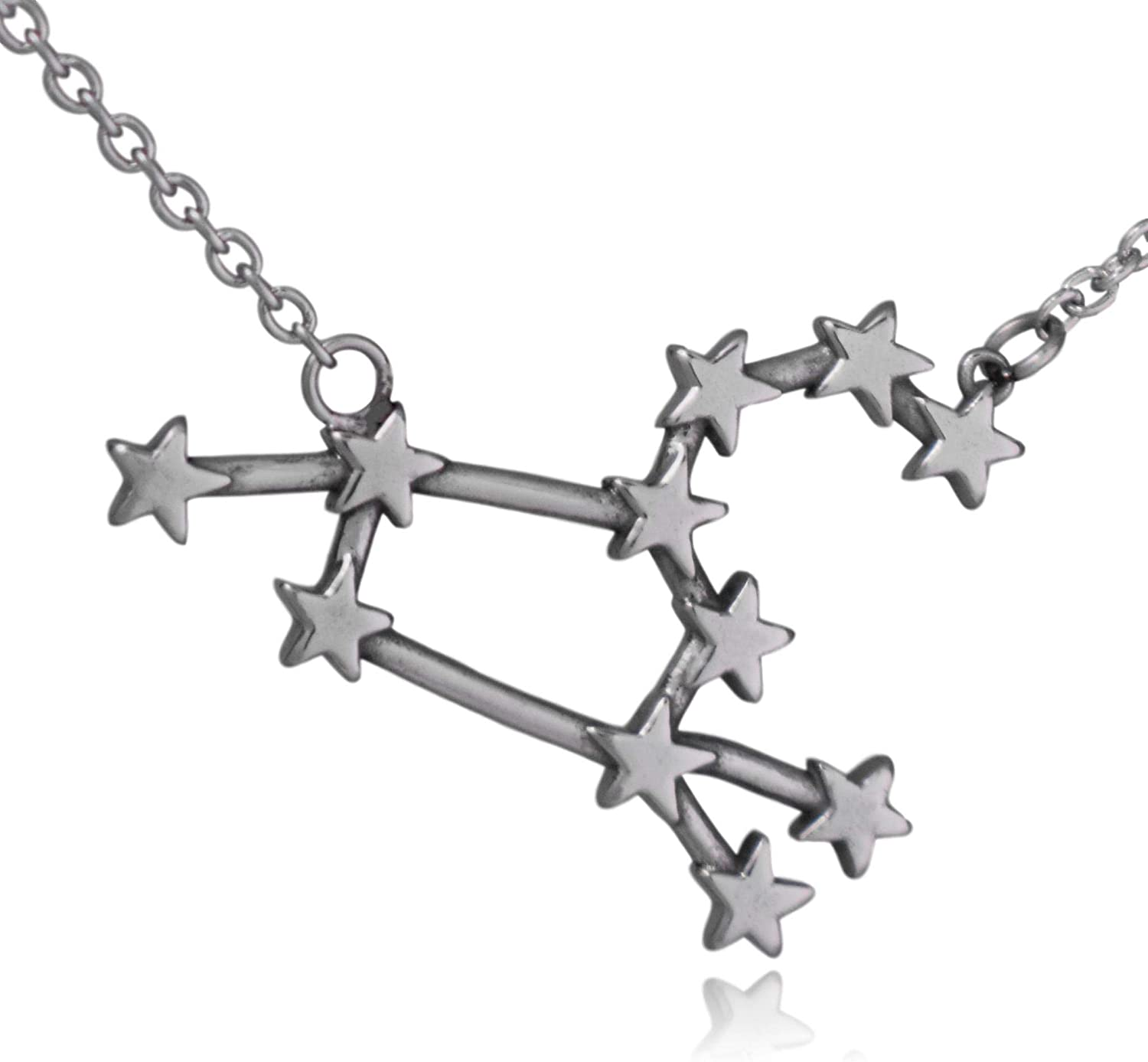 Clayton Jewelry Labs Leo Zodiac Constellation Sign Symbol Stainless Steel Pendant Necklace