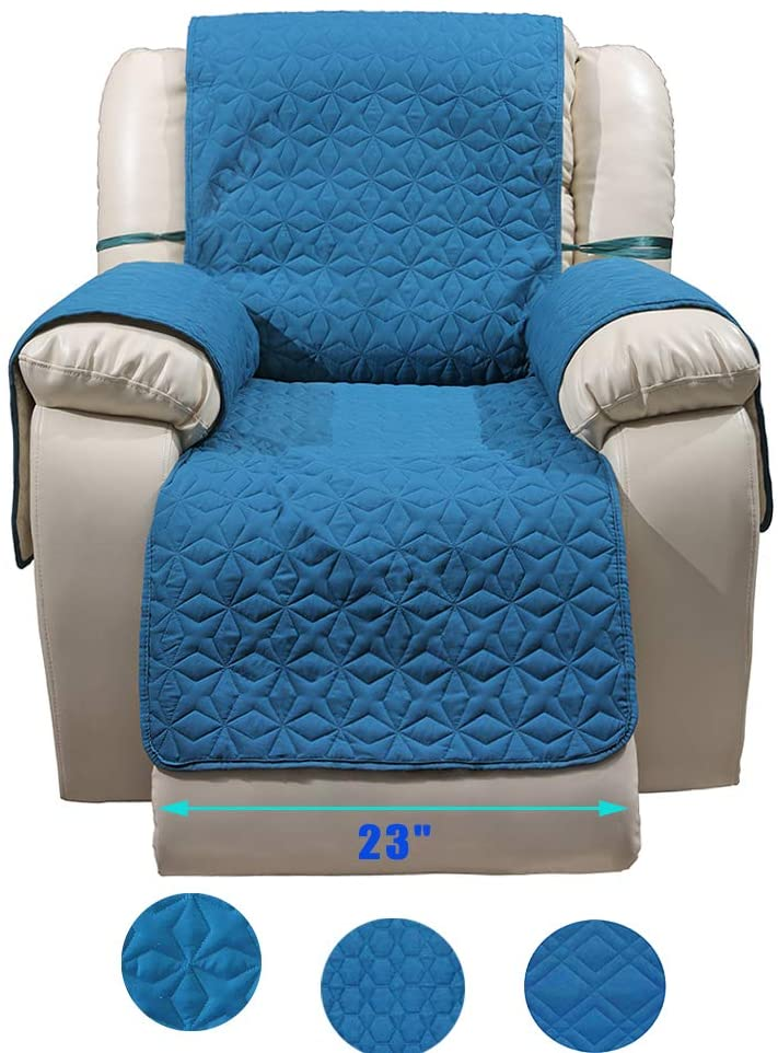 RBSC Home Waterproof Quilted Recliner Cover Antislip Recliner Slipcover with Pockets for Pets, Dogs, Cats Washable