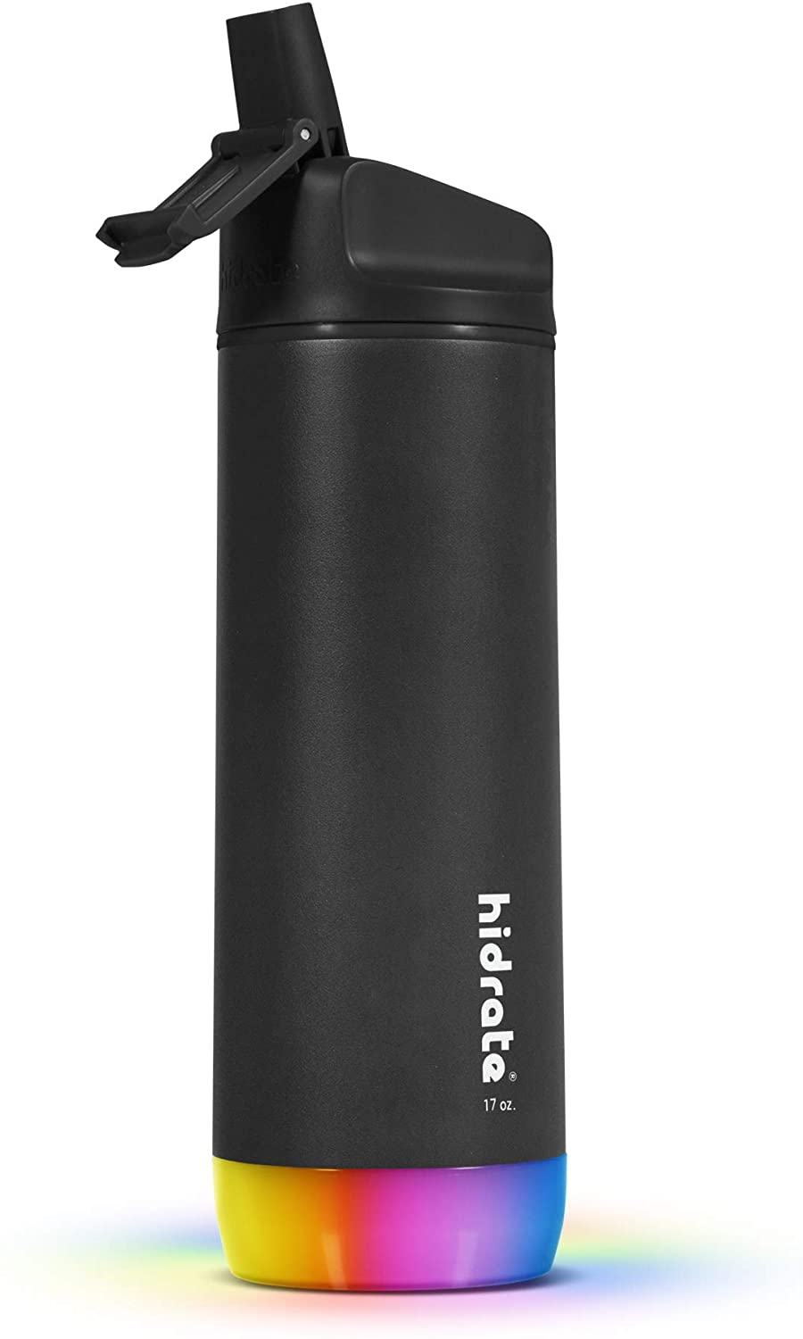 Hidrate Spark Steel Smart Water Bottle, Tracks Water Intake & Glows to Remind You to Stay Hydrated - Straw Lid