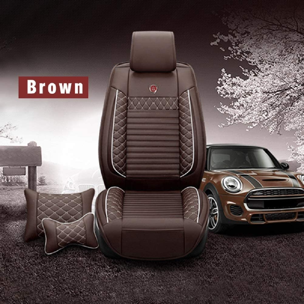Maiqiken Custom Car Seat Cover for BMW X2 F39 2018-2019 Five Seat Car Seat Cushion Cover Full Set Needlework PU Leather Seat Pad Protector