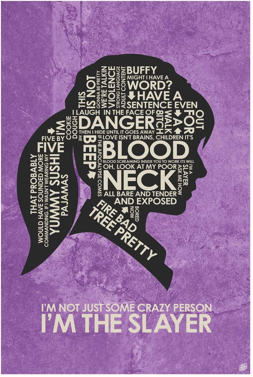 I'm The Slayer Giclee Art Print Poster from Typography Drawing by Pop Artist Stephen P. 12