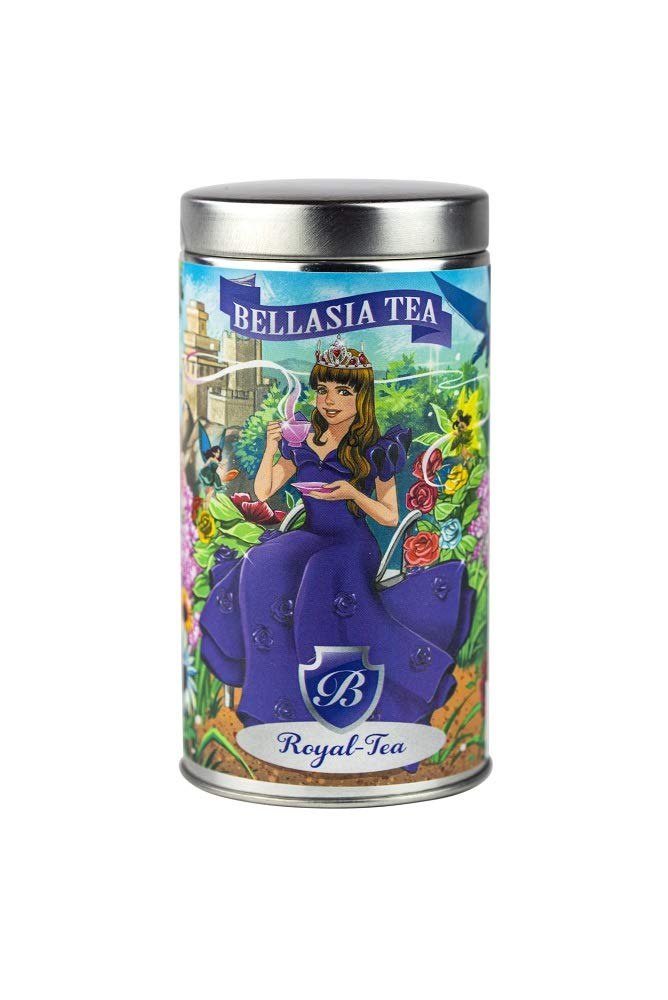 Royal-Tea by Bellasia Tea, Herbal tea for kids, Sugar-Free, Caffeine-Free, Antioxidant-rich, Twisted Fruit flavored, Tea for kids, Fruit Tisane leaf bags tea for children, Fruity, Princess tea party, Teatime for kids!