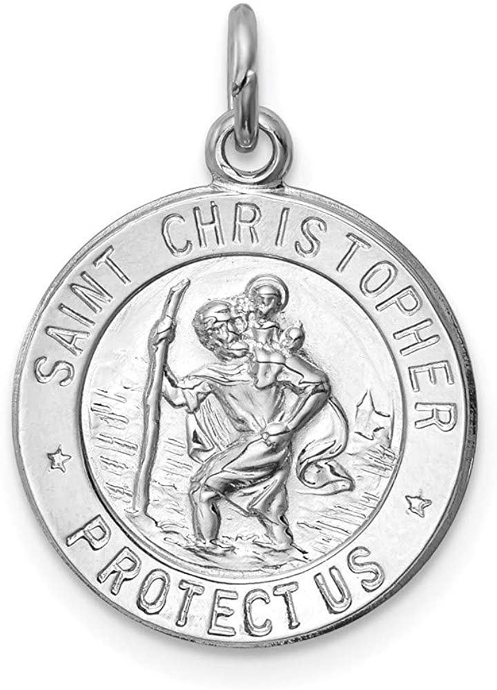 925 Sterling Silver Saint Christopher Medal Pendant Charm Necklace Religious Patron St Fine Jewelry For Women Gifts For Her