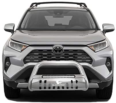 Black Horse Off Road BE-B4802S Stainless Steel Stainless Steel 1 Pieces Bumper Push Bar Bull Bar