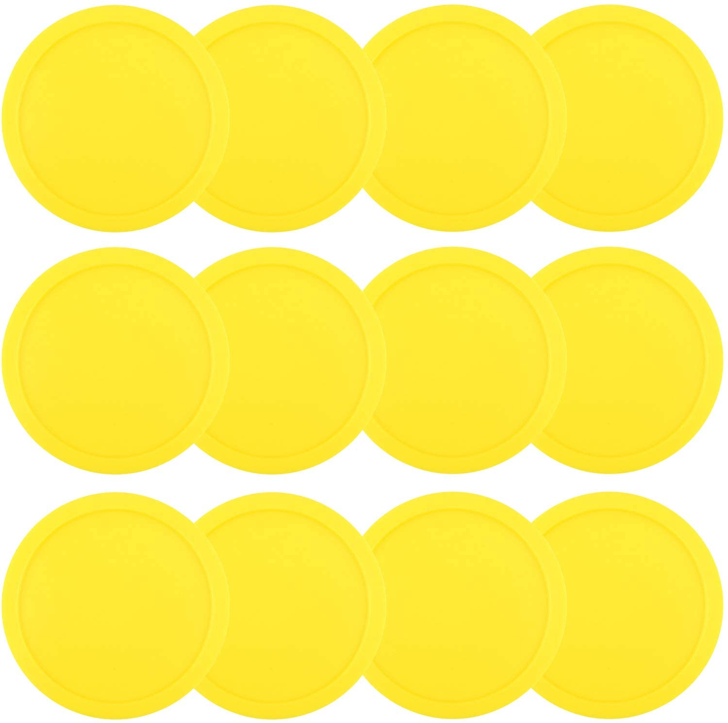 ONE250 3 1/4 inch Air Hockey Pucks, One Dozen Goal Full Size Packs Replacement Accessories for Game Tables (12 Pcs)