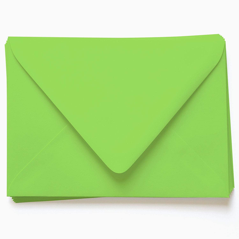 A2 Gmund Colors Matt Leaf Green Envelopes - Euro Flap, 68T, 250 Pack