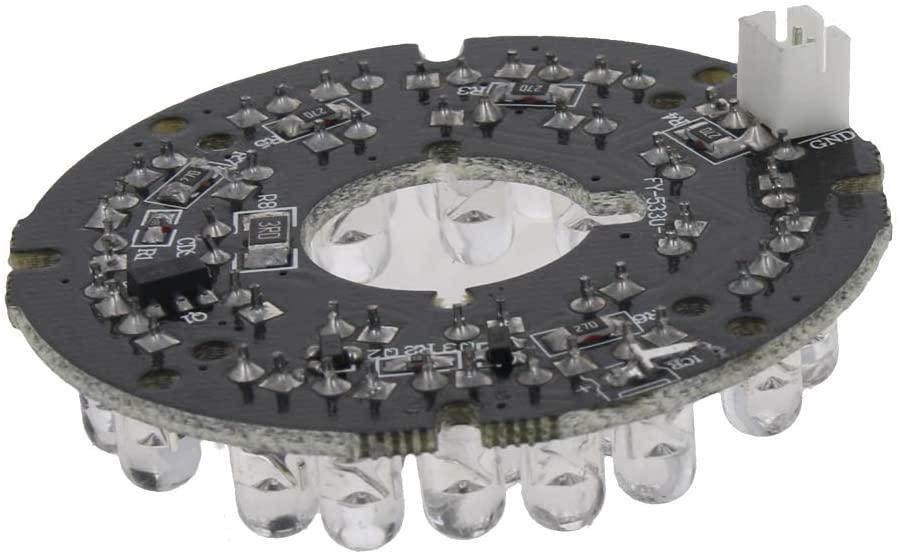 Othmro IR Infrared Illuminator Board 1PCS 45°Round Plate IR Illuminator Board Bulb for CCTV Security Camera 30LEDs