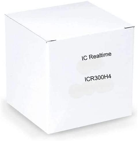 IC Realtime ICR-300H4 Indoor/Outdoor Mid-Size IR HDAVS Waterproof Dome Camera (Black); 1/2.7