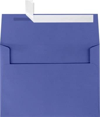 LUXPaper A7 Invitation Envelopes for 5 x 7 Cards in 80 lb. Boardwalk Blue, Printable Envelopes for Invitations, w/Peel and Press Seal, 250 Pack, Envelope Size 5 1/4 x 7 1/4 (Blue)
