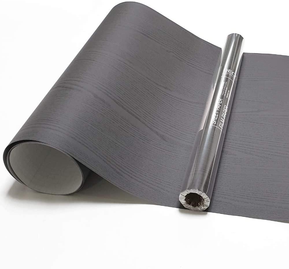 Dark Gray Wood Self Adhesive Paper 19.6