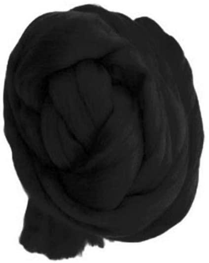 E-House Swaddling Blankets Fleece Bed Blanket Soft Lightweight 8cm 250g Woolen Yarn Bulky Knitting Roving Knitted Blanket Thick Woven Material - Black