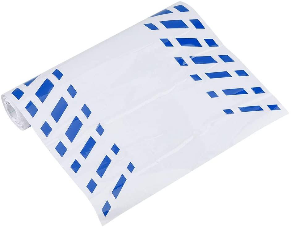 Aramox Car Waist Stickers, D-707 Universal Car Waist Side Skirt Stripe Vinyl Sticker, DIY Decoration Auto Car Accessory (Blue)
