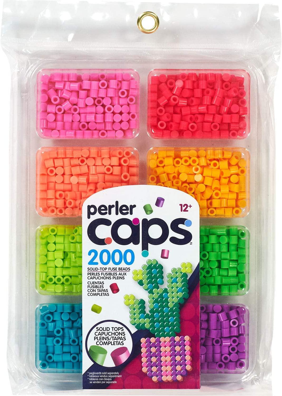 Perler Bright Colors Caps Bead Tray, 2000pcs