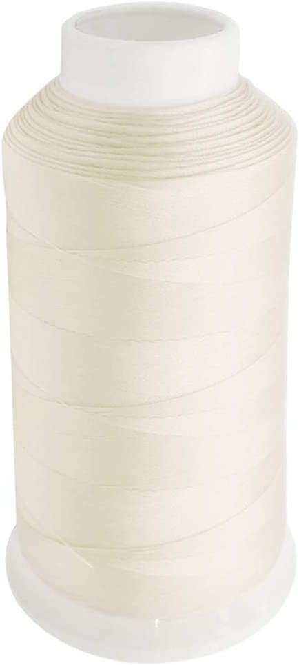 Desirable Life Bonded Nylon N66 Sewing Thread 1500 Yards Size #69 T70 210D/3 for Leather Denim Hand Machine Craft Shoe Bag Repairing Extra Strong Heavy Duty UV Rays Resistant Waterproof (Cream)