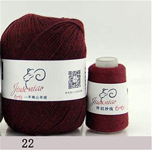 LY 70g Coarse Yarn Cashmere Hand Weaving Machine Weaving Wool Yarn for Knitting Medium fine Sheep Cashmere Wool Thread FZ66 (22)
