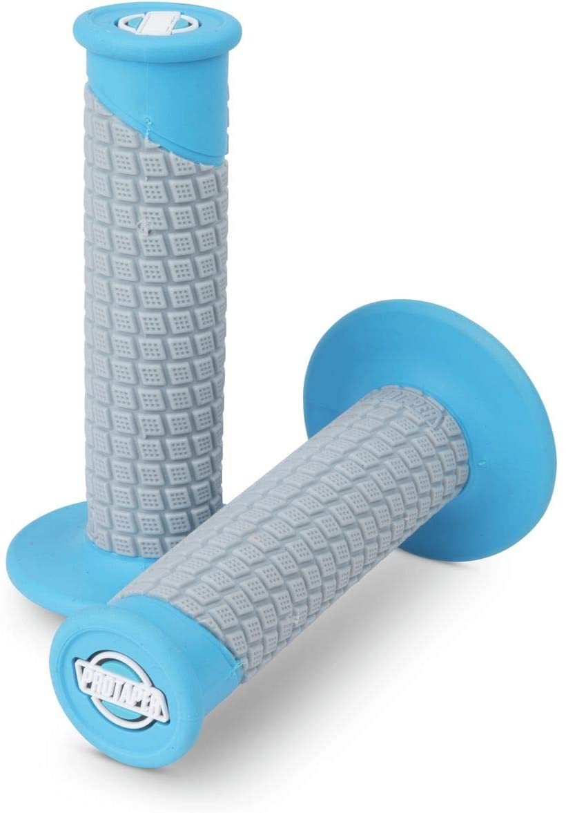 Pro Taper Clamp On Grips - Pillowtop (NEON Blue/Grey)