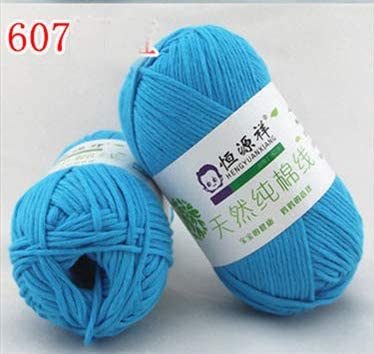 xinchenglove Retail Combed 1.76 Ounce / 3.52 Ounce / 7.05 Ounce 100% Organic Cotton First Class Soft Baby Yarn Eco-Friendly Cotton Yarn for Hand Knitting Crochet Thread AQ029 (7,1.76 Ounce)
