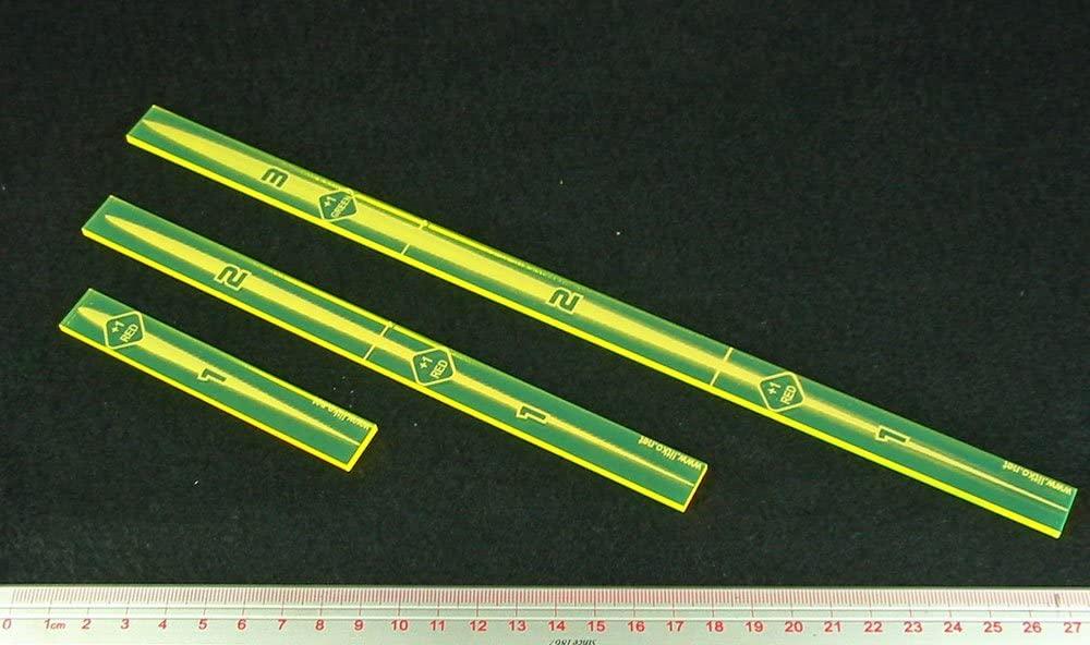 LITKO Space Fighter, Multi-Range Fire Gauge Set, Fluorescent Yellow (3)
