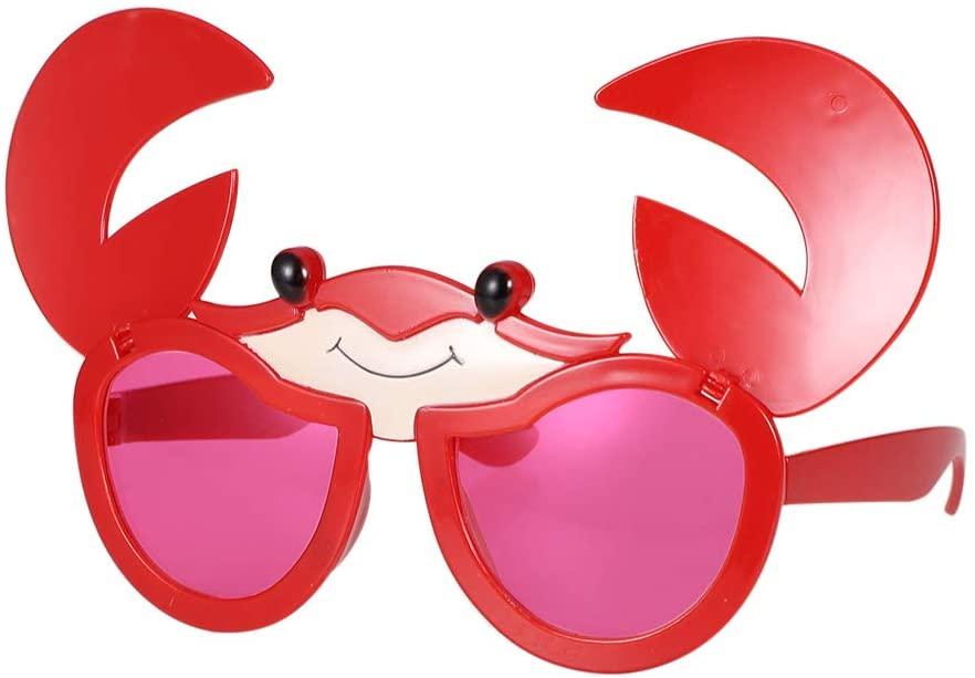 KKBES Funny Glasses Party Sunglasses Costume Sunglasses Happy Birthday Eyeglasses Crab Shape Sunglasses Birthday Party Props