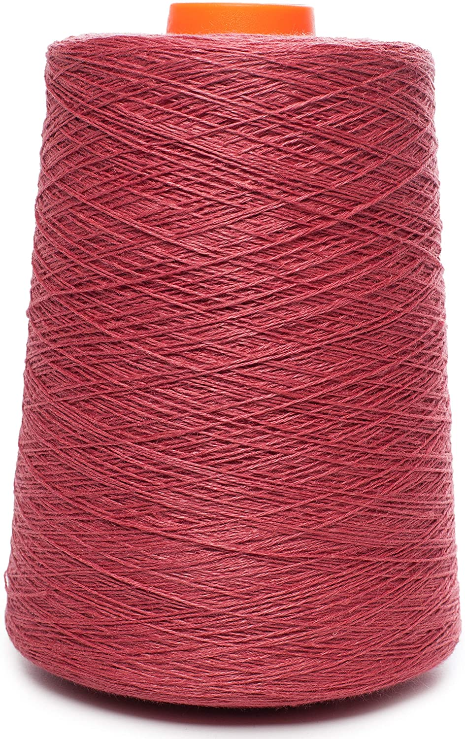 Lusie's Linen Yarn - 100% Linen - 1.15 lb (18oz) Cone - Peony Red - for Weaving, Crocheting, Knitting, Embroidery (2-PLY)