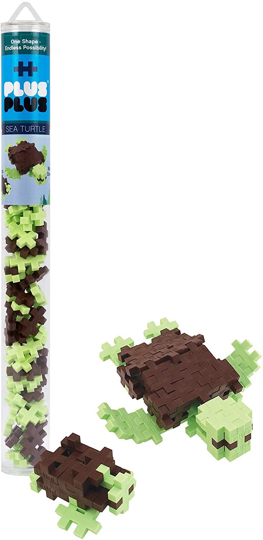 PLUS PLUS - Sea Turtle - 70 pc Tube, Construction Building Stem/Steam Toy, Kids Mini Puzzle Blocks