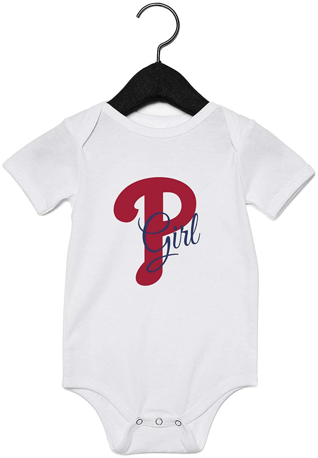 EGDKids Phillies Girl Quote Baby Bodysuit White (R77)