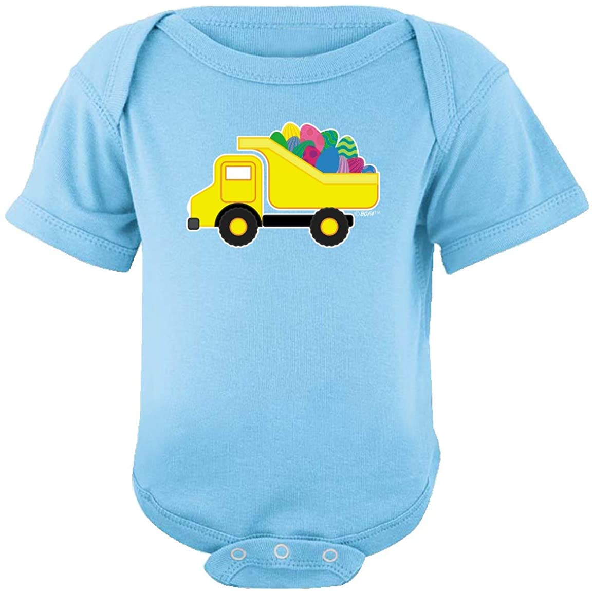 Baby Gifts For All Easter Outfit Easter Eggs Dump Truck Bodysuit