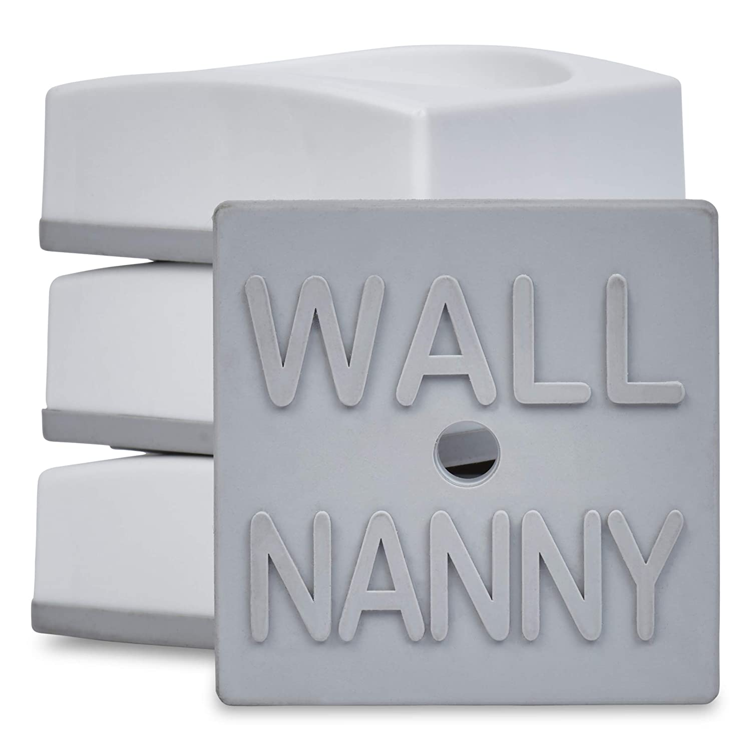 Wall Nanny Mini - Baby Gate Wall Protector (4 Pack - Made in USA) for Dog & Pet Gates - Small Low-Profile Saver - Perfect in Doorways - Cups Protect & Guard Walls from Kid Child Safety Pressure Gates