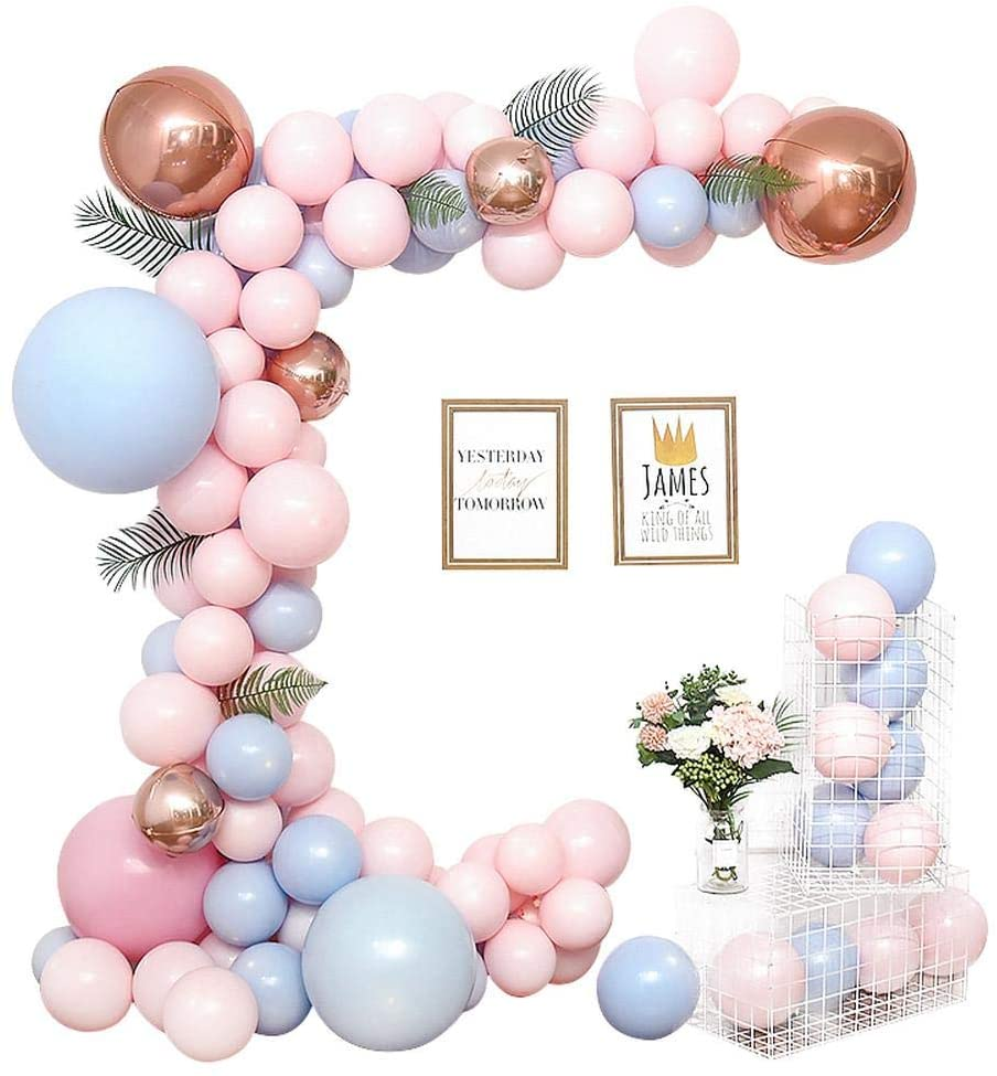 fineshelf Party Balloon Chain Set Balloon Garland for Macaron,Christmas,Birthday Party, Wedding,Valentine's Day,Candy Party,Wedding Party,Baby Shower Party