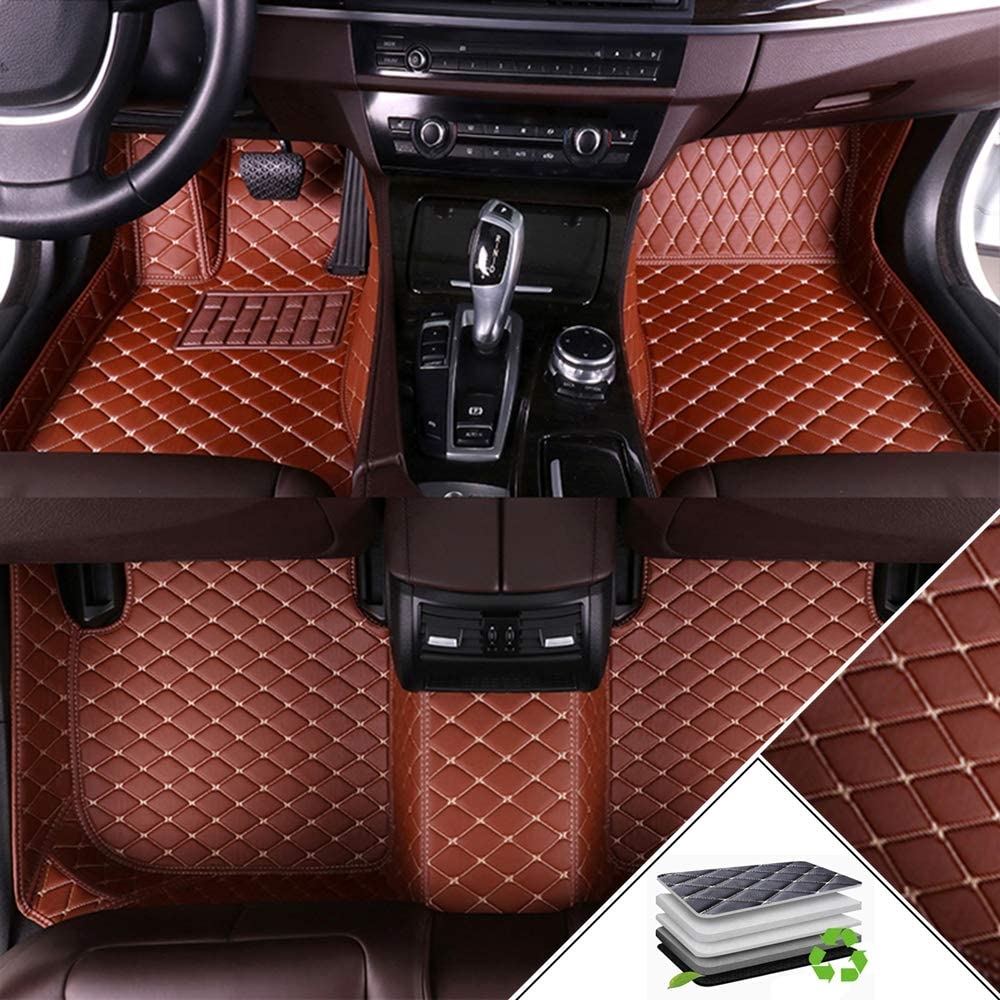ALLYARD Custom Car Floor Mats for Mercedes-Benz G Class 500 350d 55 2019 All Weather Waterproof Non-Slip Full Covered Protection Advanced Performance Liners Car Liner Brown