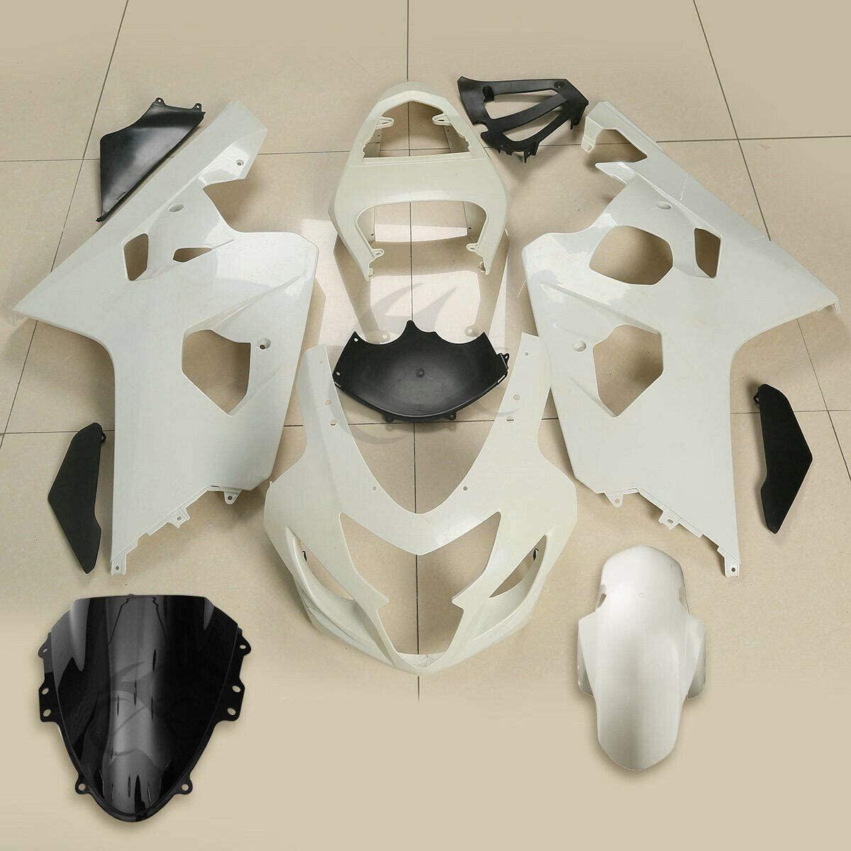 TCMT Unpainted White ABS Fairing Bodywork Set Fits For SUZUKI GSX-R GSXR 600 750 GSXR750 2004 2005