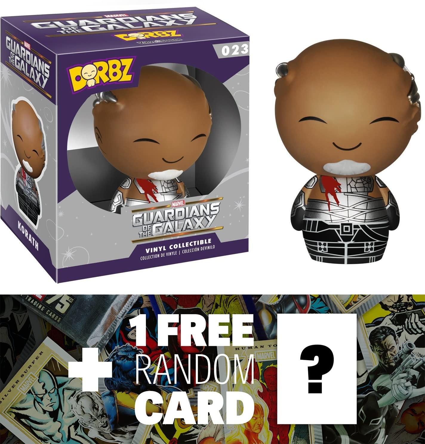 Marvel Korath: Funko Dorbz x Guardians of The Galaxy Mini Vinyl Figure + 1 Free Official Trading Card Bundle [59453]