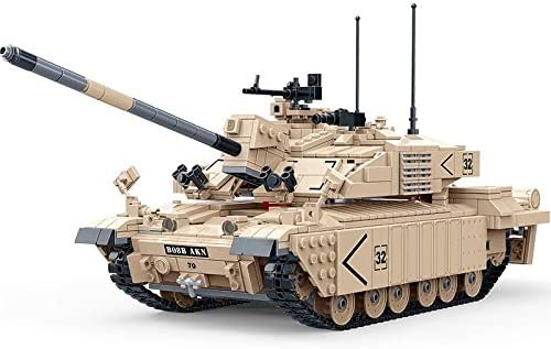 General Jim's WW2 Military British Challenger II Main Battle Tank Brick Building Model Toy Set 1:28 U.S. Seller WWII Toy Tank Model