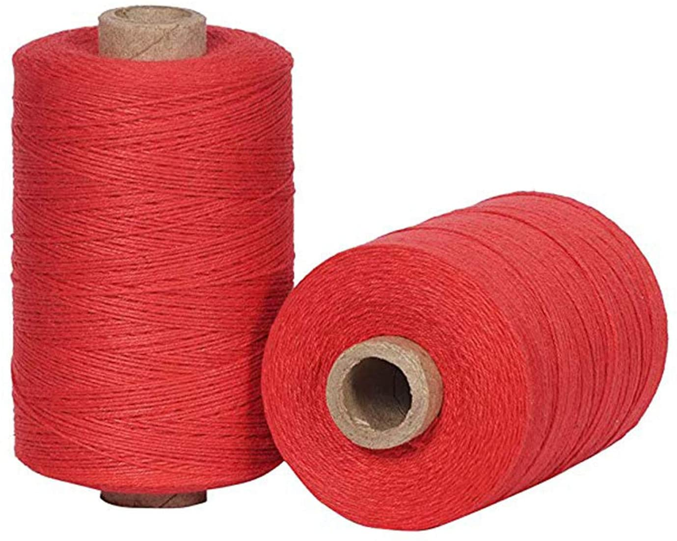 Warp Thread for Weaving Loom - 1 Spool of 850 Yards 8/4 Warp Yarn 100% Cotton - Red Color - Perfect Warping Thread for Weaving Tapestry Carpet Rug Blankets and Other Patterns
