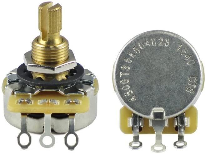 CTS Potentiometer 450G Series A500K Guitar Pot Brass Split Shaft