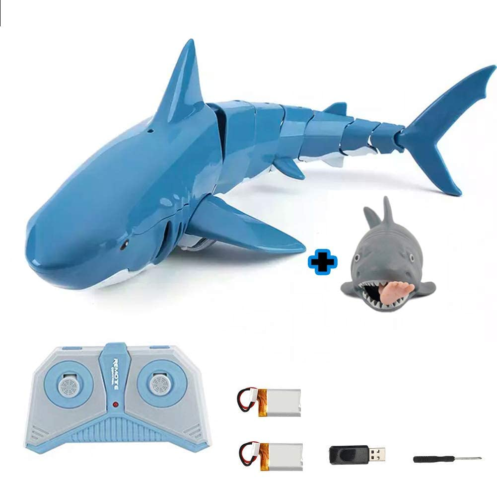 RC Shark Toys for 4 5 6 7 8 9 10+ Year Old Boys, Remote Control Water Toy Girls and Adults - Bath, Pool Toys