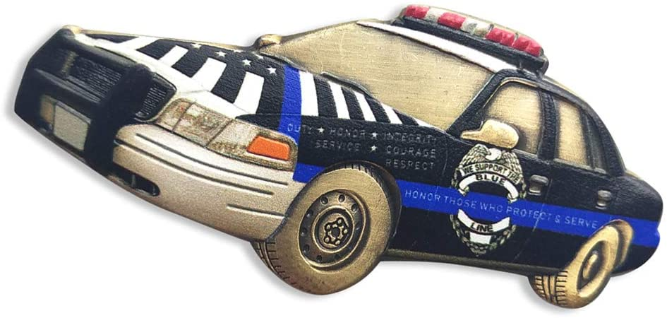 Police Car Challenge Coin Saint Michael The Archangel Defend Us in Battle