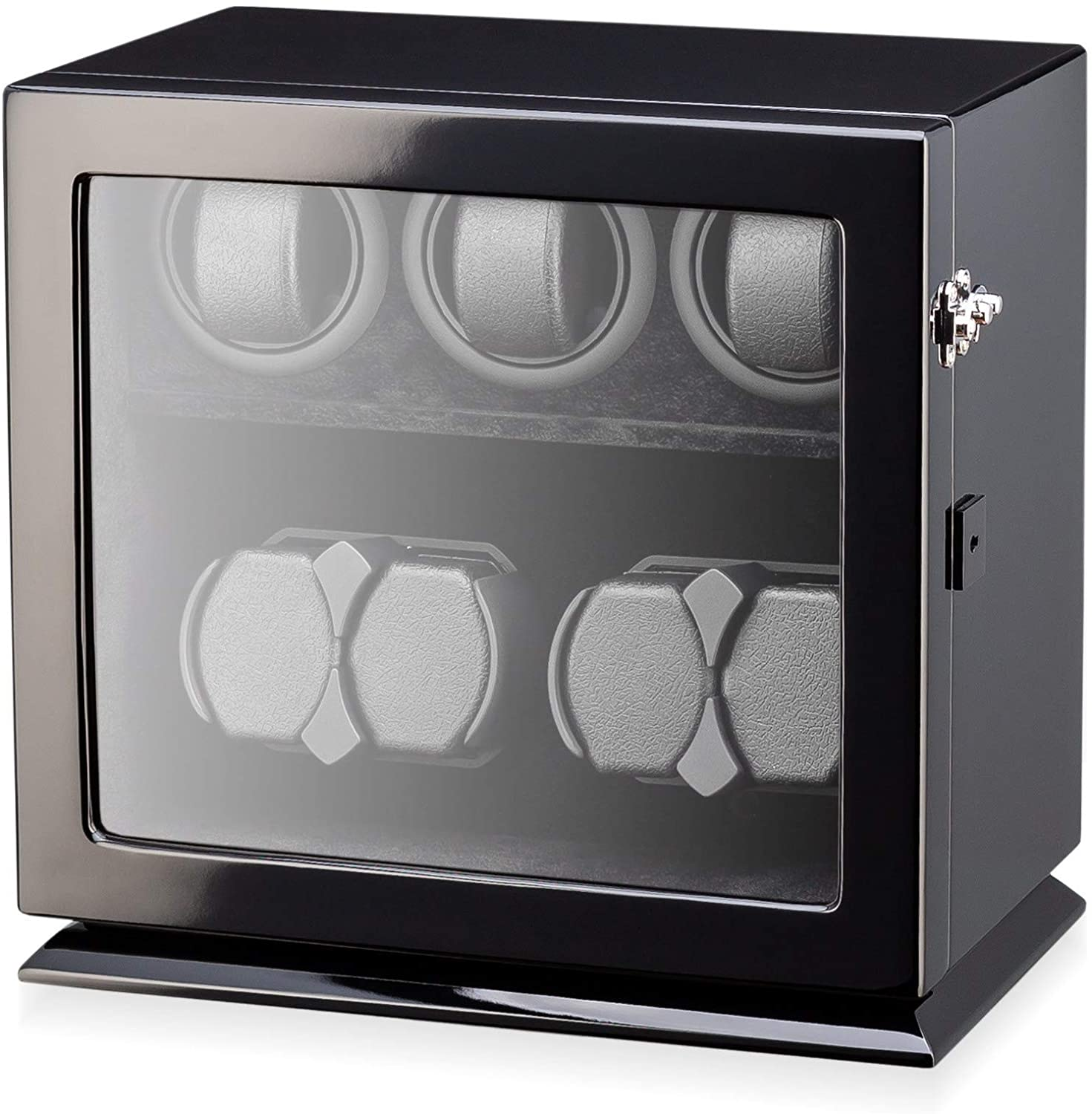 Watch Winder for 7 Watches with Interior Backlight, Motor-Stop Option and Battery Power Option