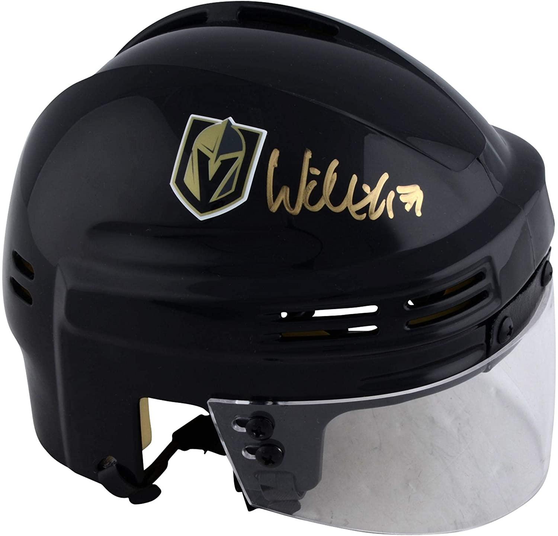 William Karlsson Vegas Golden Knights Autographed Black Mini Helmet - Autographed NHL Mini Helmets and Masks