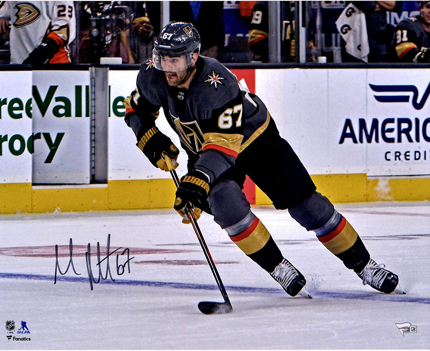 Max Pacioretty Vegas Golden Knights Autographed 16 x 20 Black Jersey Skating Photograph - Autographed NHL Photos