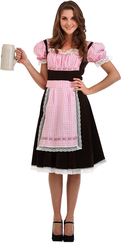 Bavarian Beer Maid Women's Halloween Costume - Lady Oktoberfest Dress (Small)