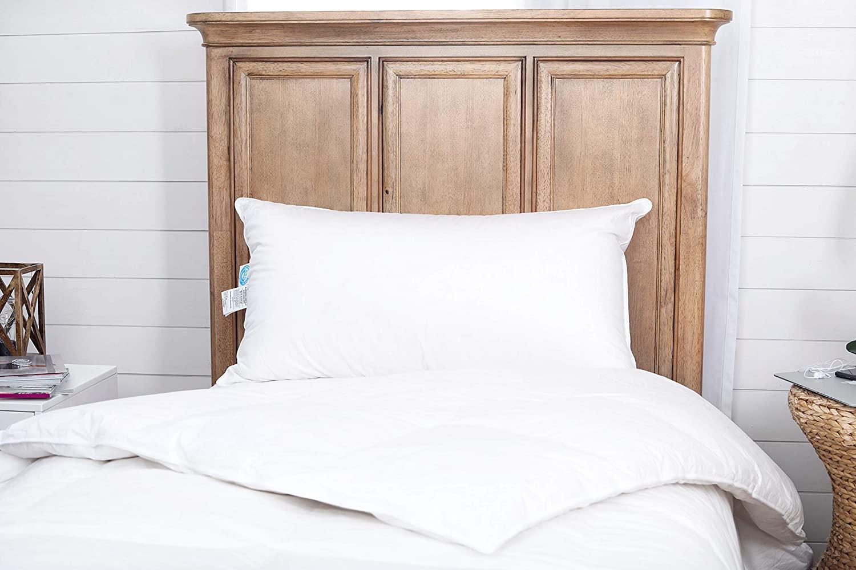 Continental Bedding Premium 100% White Goose Down Soft Pillow. King Size [Soft]